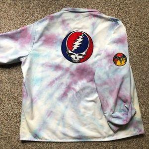 VINTAGE GRATEFUL DEAD tie dye shirt XL